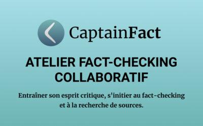 CAPTAINFACT : ATELIER D'INITIATION