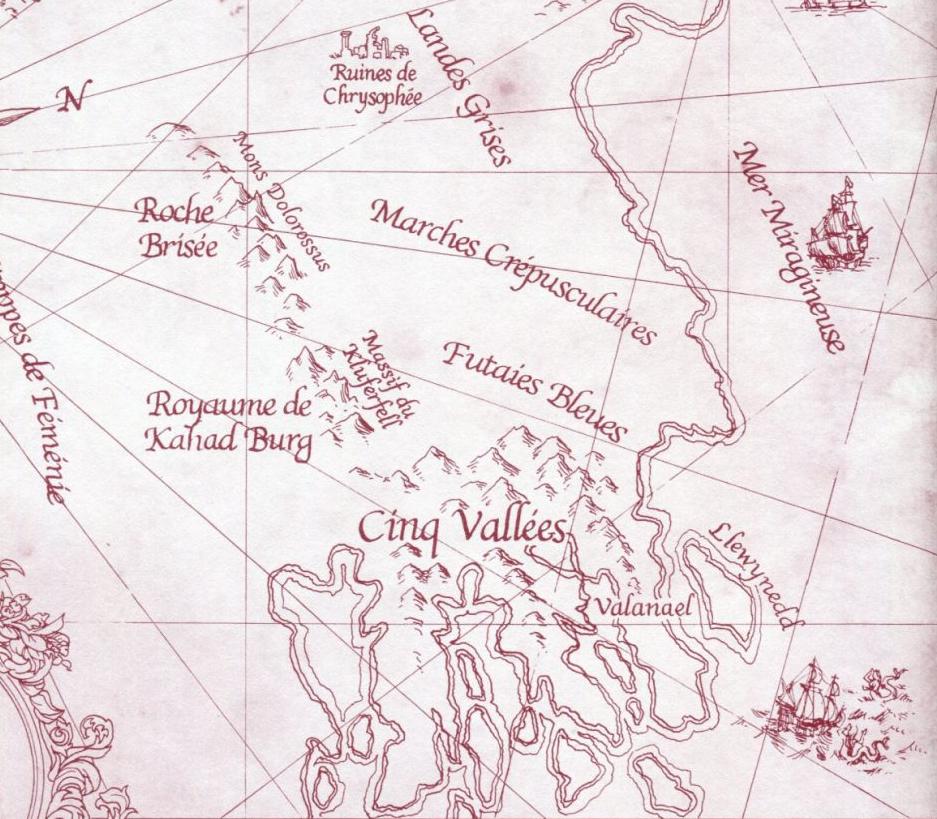 Carte du Vieux Royaume - Détail